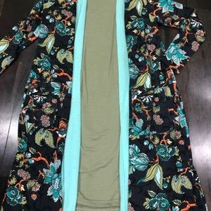 Lularoe floral Sarah joy and olive green Jessie